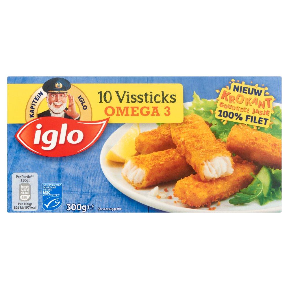 Iglo Vissticks Omega 3 10 Stuks 300 g