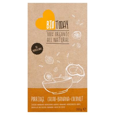 Bio Today Cacao Banaan Kokos Pap 300 g