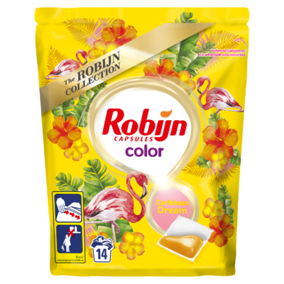 Robijn Wascapsules Color Carribean 14 Wasbeurten