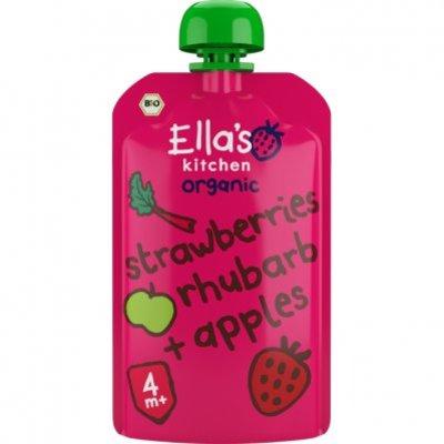 Ella's Kitchen Strawberries rhubarb + apples 4+ bio