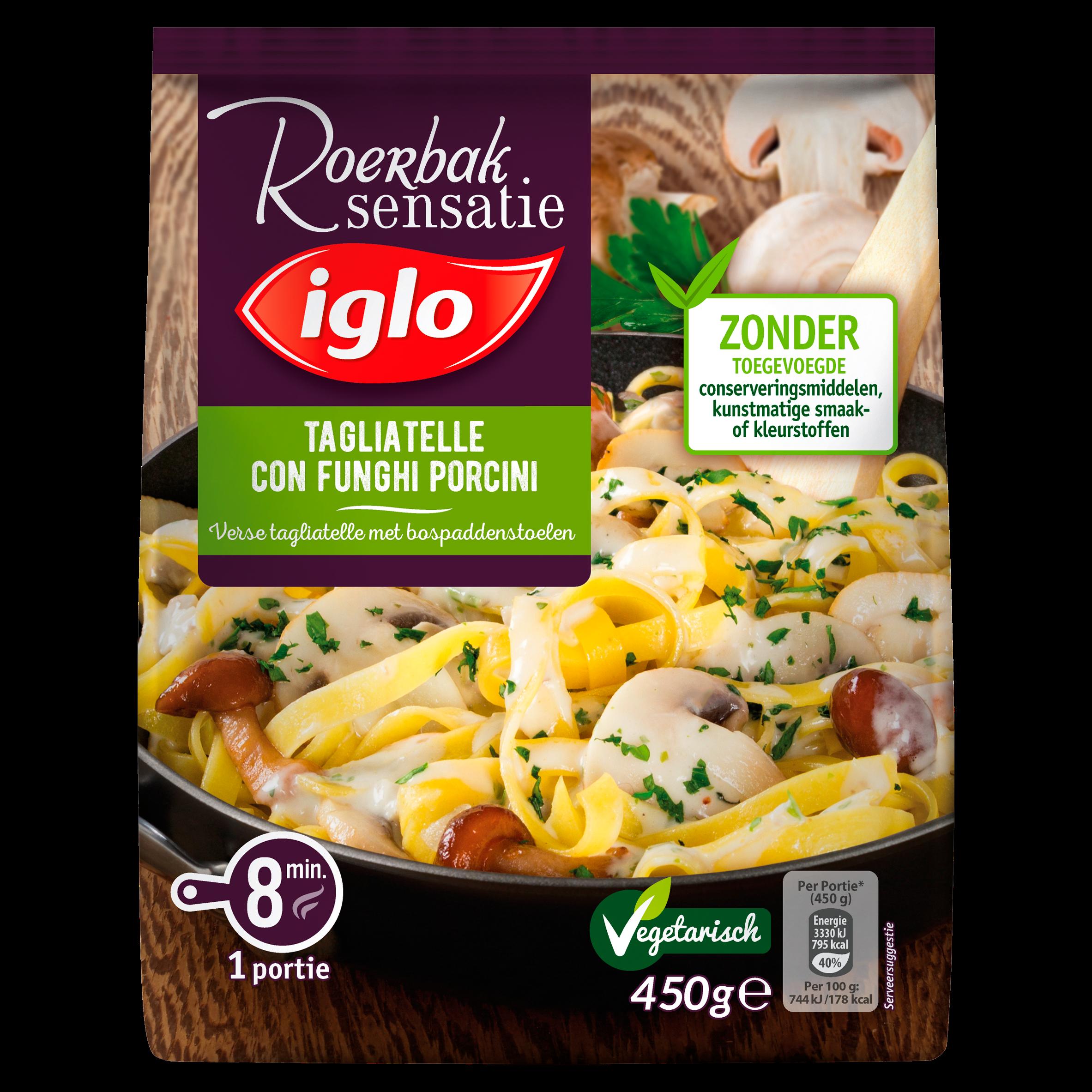 Iglo Roerbak Sensatie Tagliatelle con Funghi Porcini 450 g