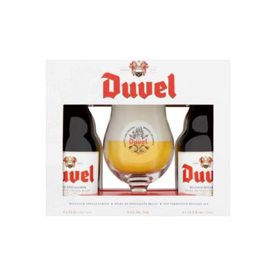 Duvel Geschenkverpakking 4 x 33 cl + Glas