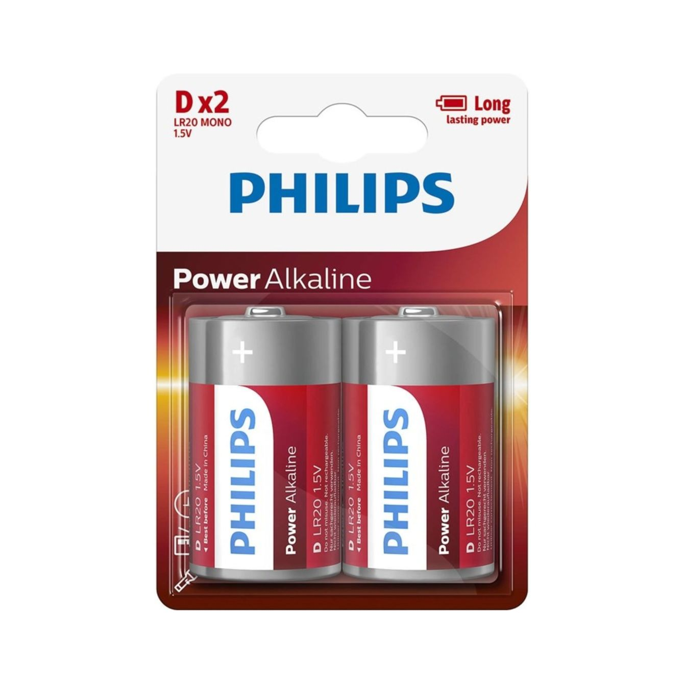 Philips D Power Batterijen Lr20 Blister