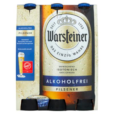 Warsteiner Alkoholvrij Bier Flessen 6 x 0,33 L