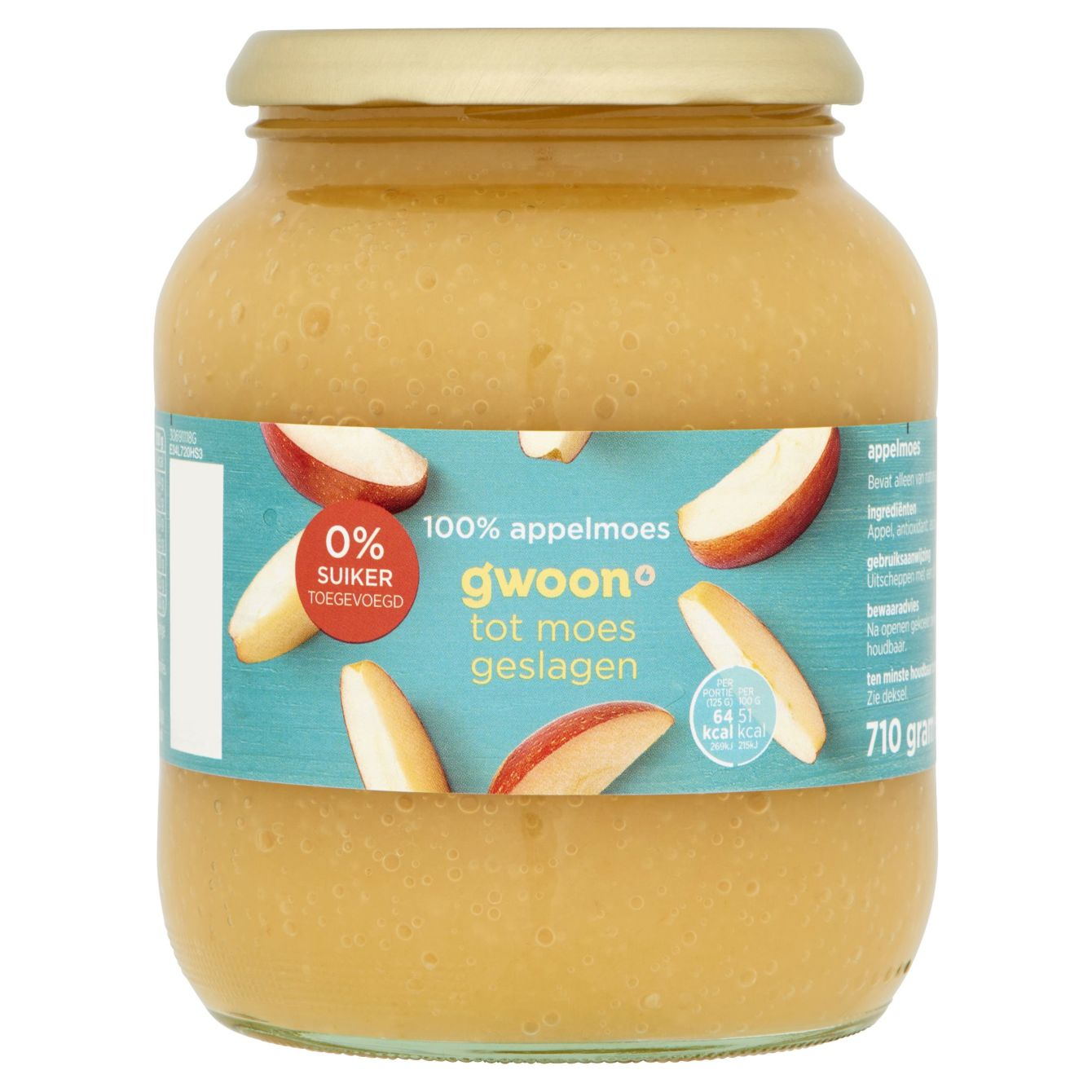 G'woon Appelmoes Extra 0% Toegevoegd Suiker