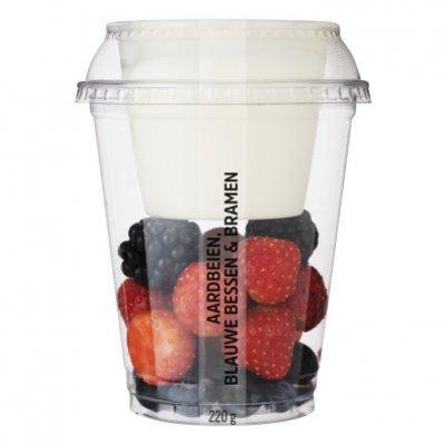 Huismerk Vers fruit met yoghurt aardb bl bes br