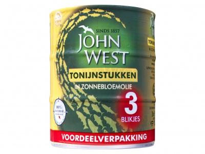 John West Tonijnstuk in zonnebloem olie