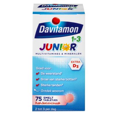 Davitamon Junior aardbei 1-3 jaar smelttabletten