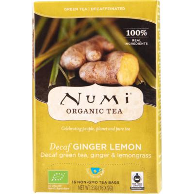 Numi Organic thee decaf ginger-lemon kop