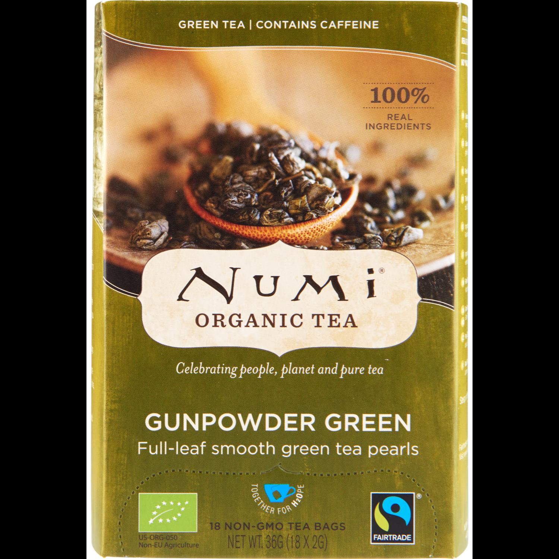 Numi Organic thee gunpowder green kop