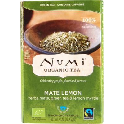 Numi Organic thee mate lemon kop