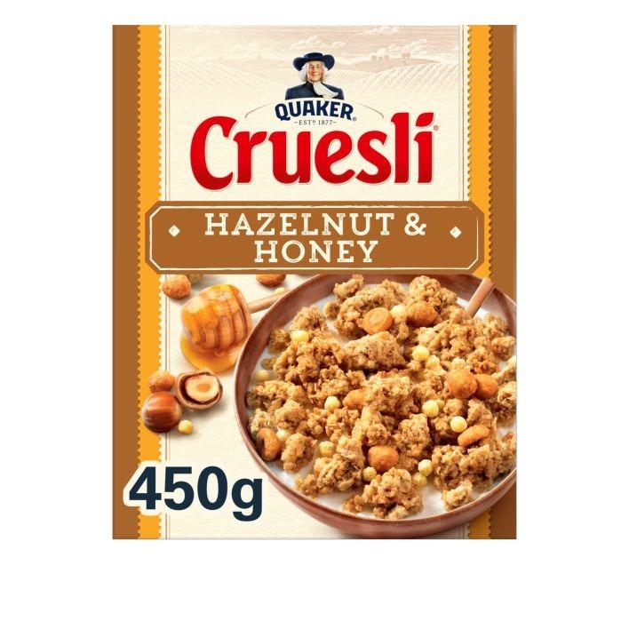 Quaker Cruesli hazelnut honey