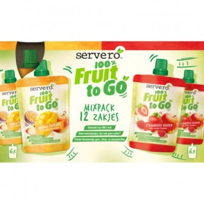 Servero 100% fruit to go mixpack mango therapy