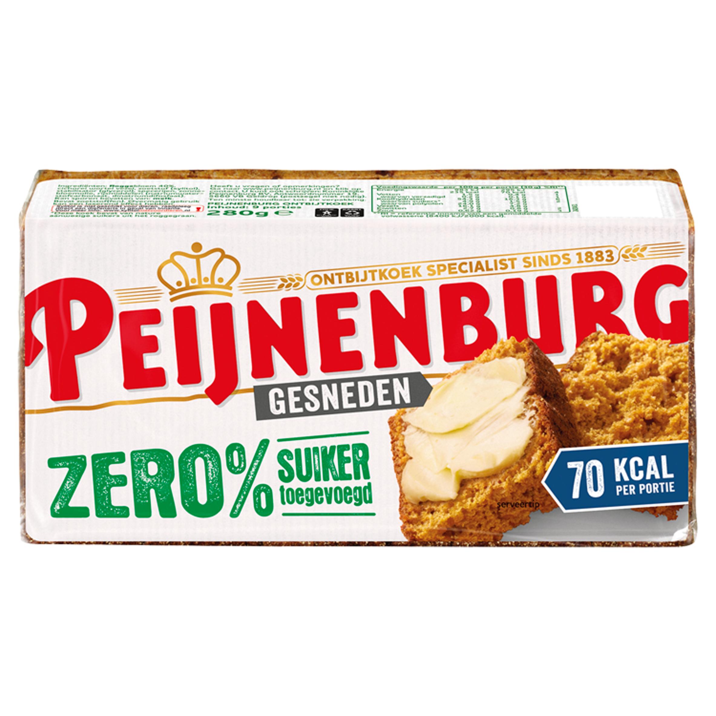 Peijnenburg Gesneden Zero % Suiker Toegevoegd 280 g