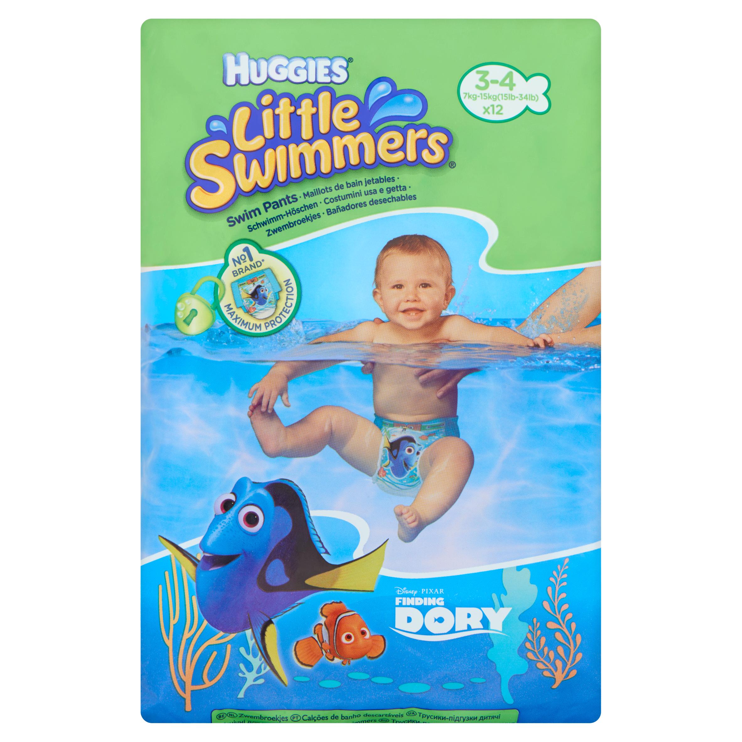 Huggies Little Swimmers Zwembroekjes 3-4 Jaar 12 Stuks