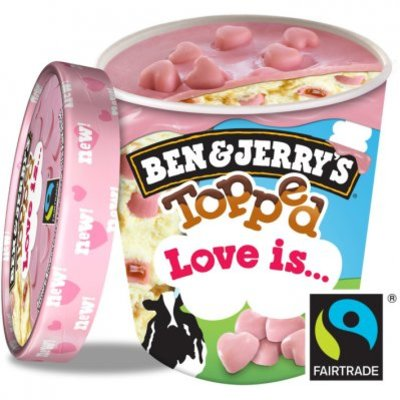 Ben & Jerry's IJs topped love
