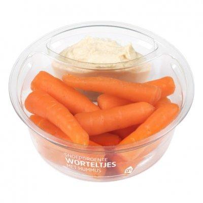 Huismerk Snoepgroente worteltjes met hummus