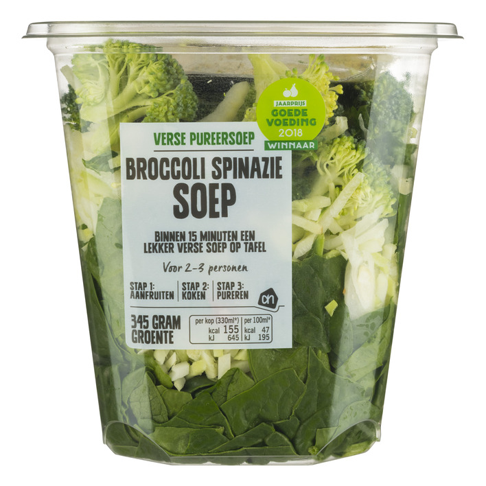 Huismerk Verse pureersoep broccoli-spinazie