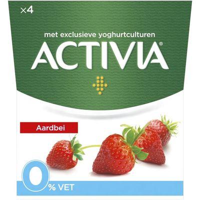 Activia Yoghurt aardbei 0%
