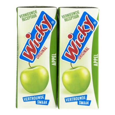 Wicky Fruitdrink appel 10-pack