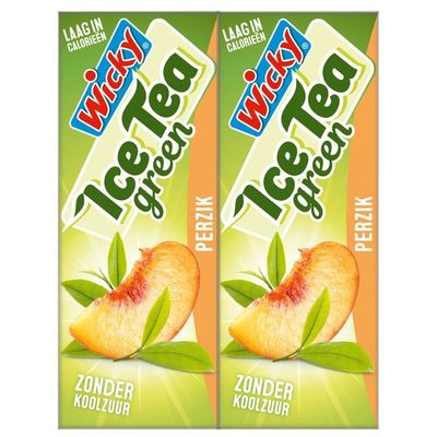 Wicky Ice tea green perzik 10-pack
