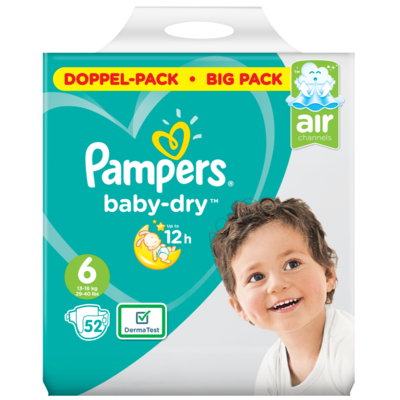 Pampers Baby dry extra large maat 6 bigpack