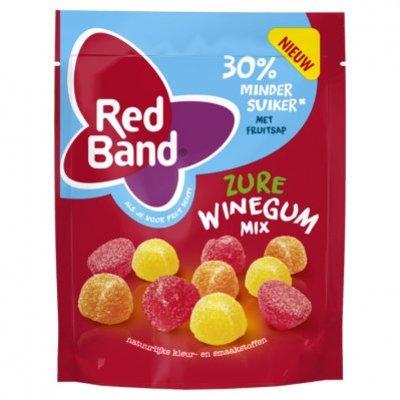 Red Band Zure winegum mix 30% minder suiker