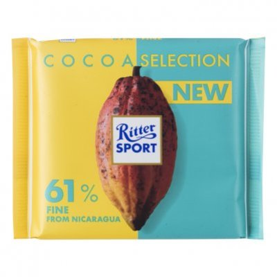 Ritter Sport Cacao selection 61% Nicaragua fijn