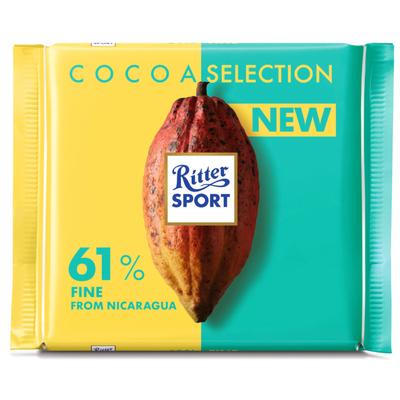 Ritter Sport Cacao selection 61% Nicaraqua fijn