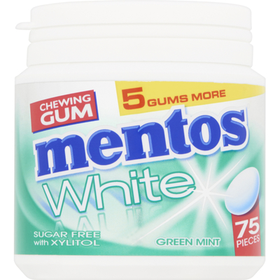 Mentos Gum White green mint