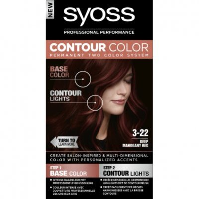 Syoss Contour color 3-22 50ml deep mahony red
