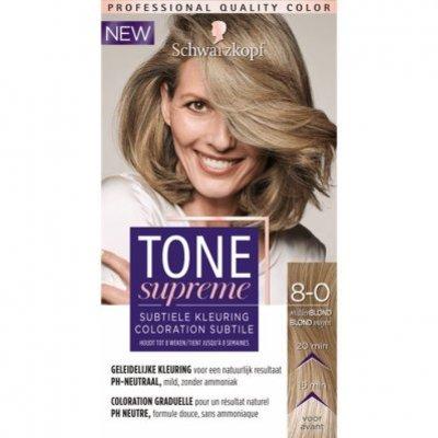 Schwarzkopf Tone supreme 8-0 midden blond bnl
