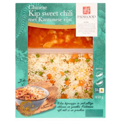 Padifood Chinese Kip Sweet Chili met Kantonese Rijst 450 g
