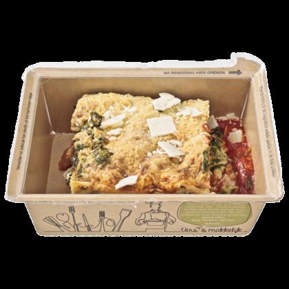 Huismerk Lasagne met zalm en spinazie