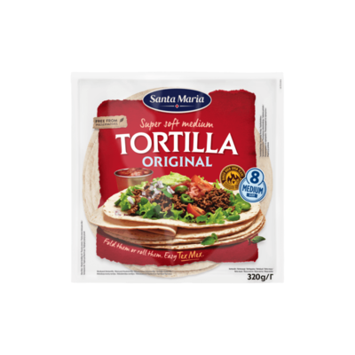 Santa Maria Super Soft Medium Tortilla Original 8 Stuks