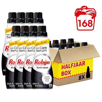 Robijn wasmiddel black velvet klein & krachtig halfjaar box