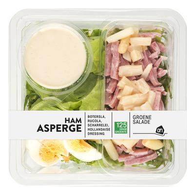 Huismerk Groene salade asperge ham