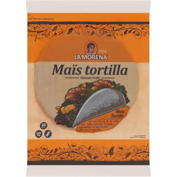 La Morena Blauwe maïstortilla's