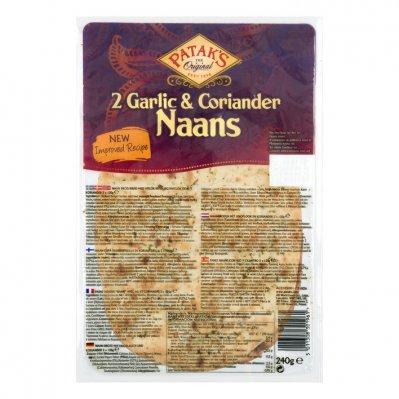 Patak's Naan garlic & coriander