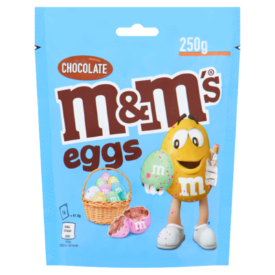M&M's speckled eggs