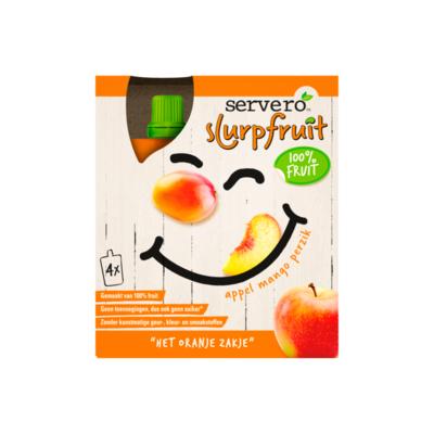 Servero Slurpfruit 100% Fruit Het Oranje Zakje