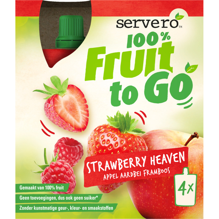 Servero 100% fruit to go strawberry heaven