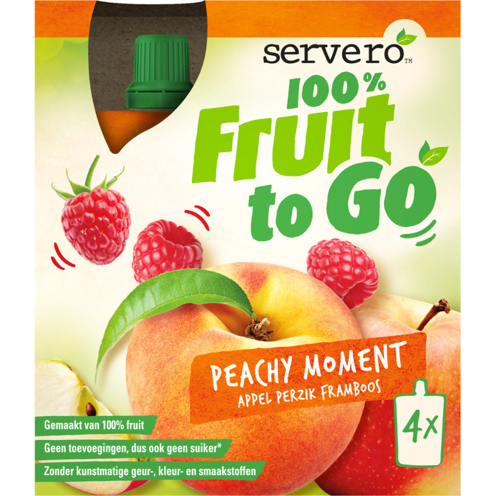 Servero 100% fruit to go peachy moment