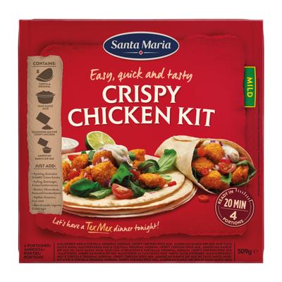 Santa Maria Dinner kit crispy chicken