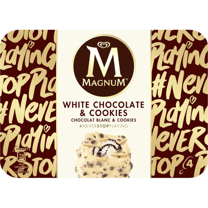 Magnum IJs white chocolates & cookies