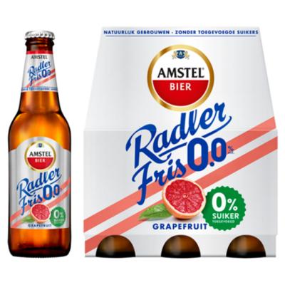Amstel Radler Fris 0.0 Bier Grapefruit Fles