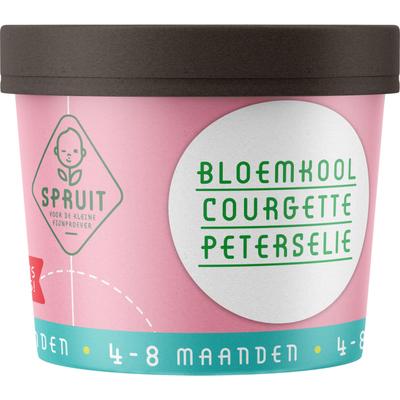 Spruit 4-8mnd: bloemkool courgette peterselie