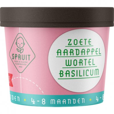 Spruit 4-8mnd: zoete aardappel wortel basilicum