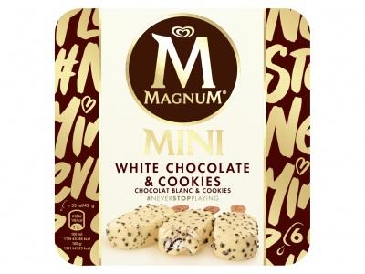 Magnum Mini white cookies