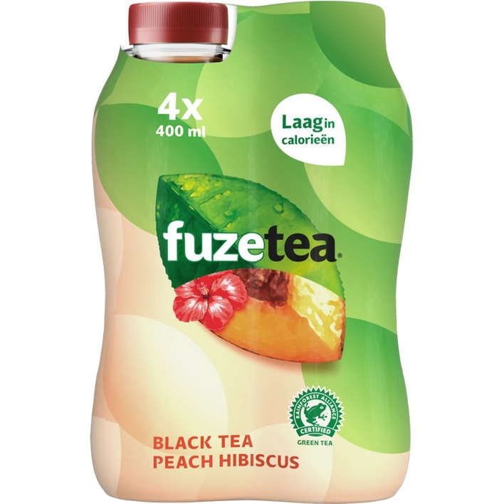 Fuze Tea Peach hibiscus 4-pack